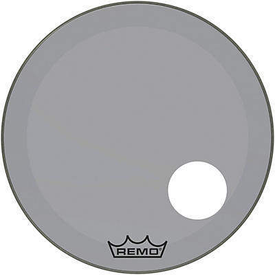 "Remo Powerstroke P3 Colortone Smoke Resonant Bass Drum Head with 5"" Offset Hole"