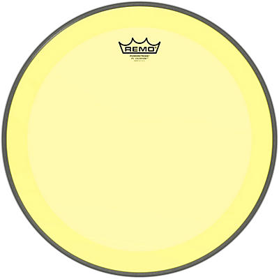 Remo Powerstroke P3 Colortone Yellow Bass Drum Head