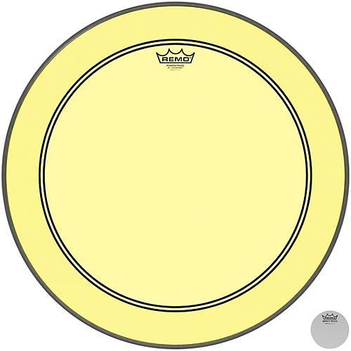 Remo Powerstroke P3 Colortone Yellow Bass Drum Head