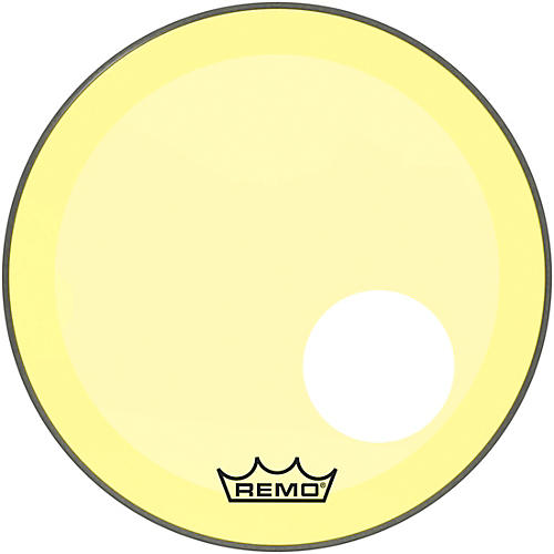 Remo Powerstroke P3 Colortone Yellow Resonant Bass Drum Head 5