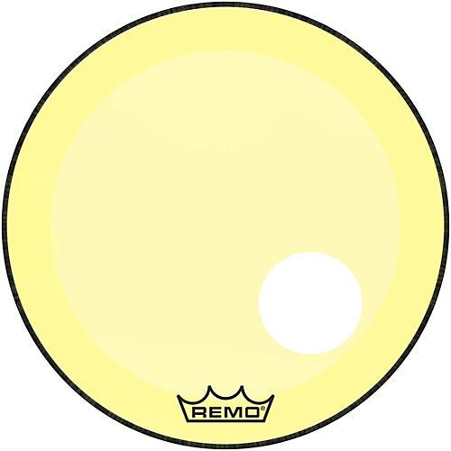 Remo Powerstroke P3 Colortone Yellow Resonant Bass Drum Head 5