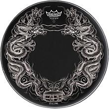 Powerstroke Tattoo Skyn Bass Drumhead, Black 22 in. Dragon Skyn Graphic