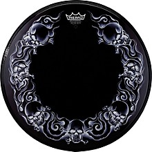 Remo Powerstroke Tattoo Skyn Bass Drumhead, Black