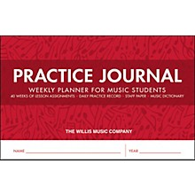 Willis Music Practice Journal - Weekly Planner for Music Students