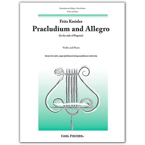 Carl Fischer Praeludium And Allegro