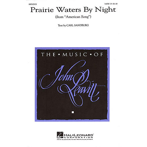 Hal Leonard Prairie Waters by Night (from American Song) SATB composed by John Leavitt