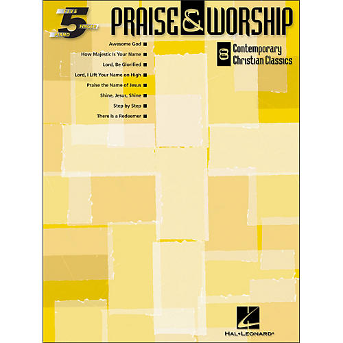 Hal Leonard Praise & Worship (8 Contemporary Christian Classics) for Five Finger Piano