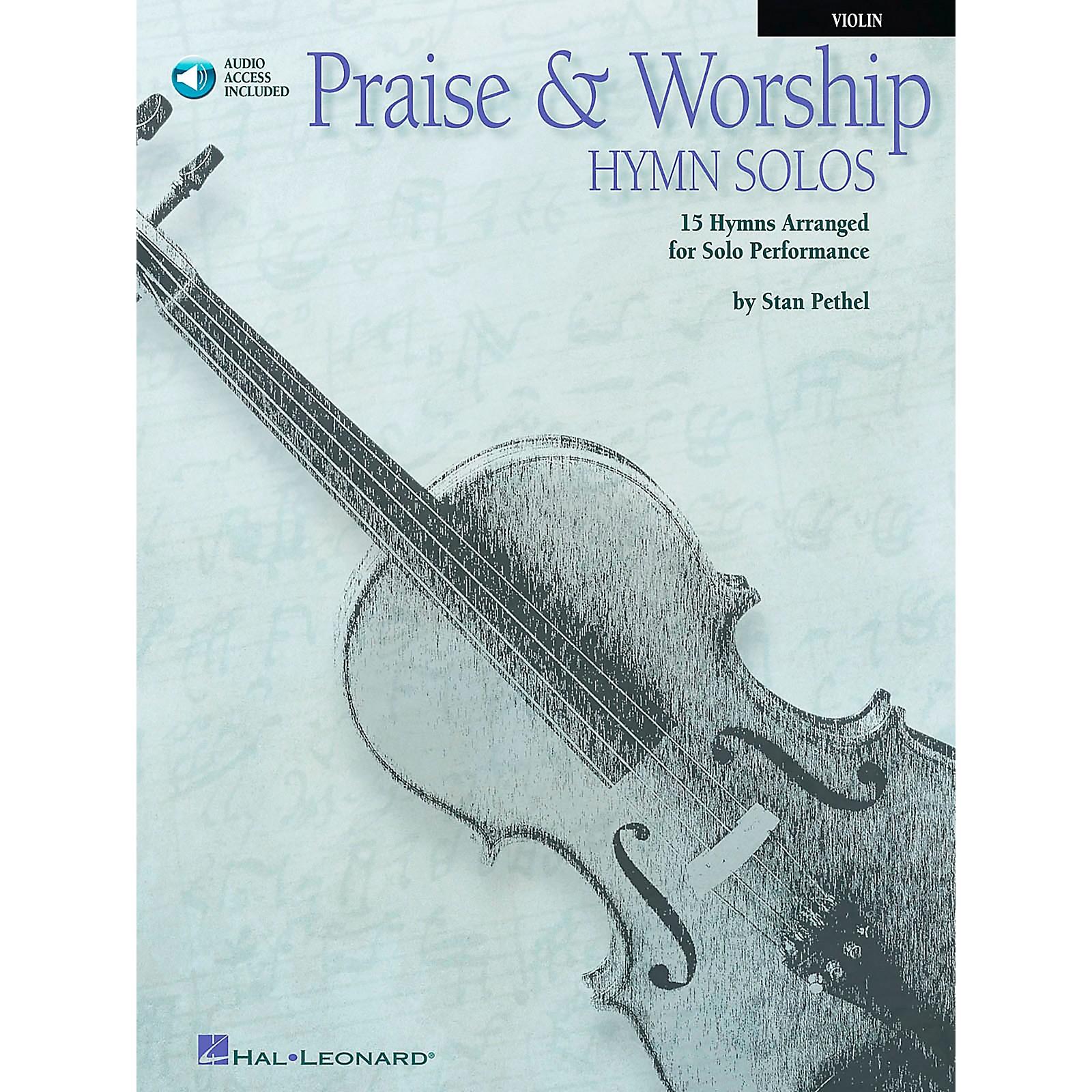 Hal Leonard Praise & Worship Hymn Solos - 15 Hymns Arranged for Solo Performance for Violin Book/CD Pkg