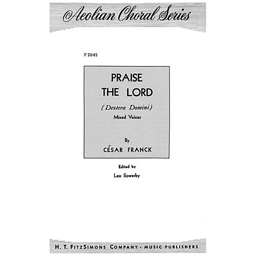 Fred Bock Music Praise the Lord SATB arranged by Leo Sowerby