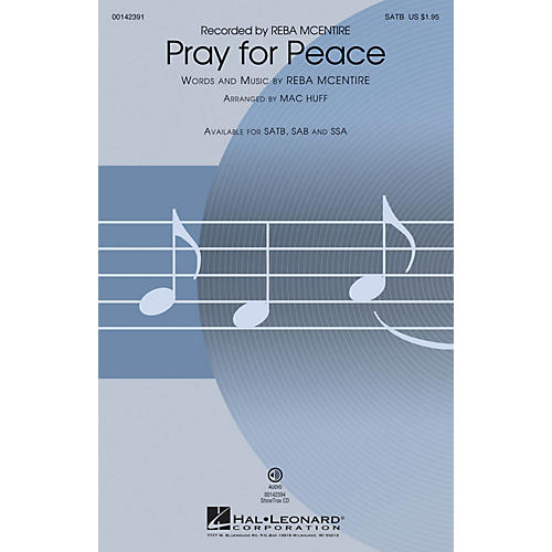 Hal Leonard Pray for Peace ShowTrax CD by Reba McEntire Arranged by Mac Huff