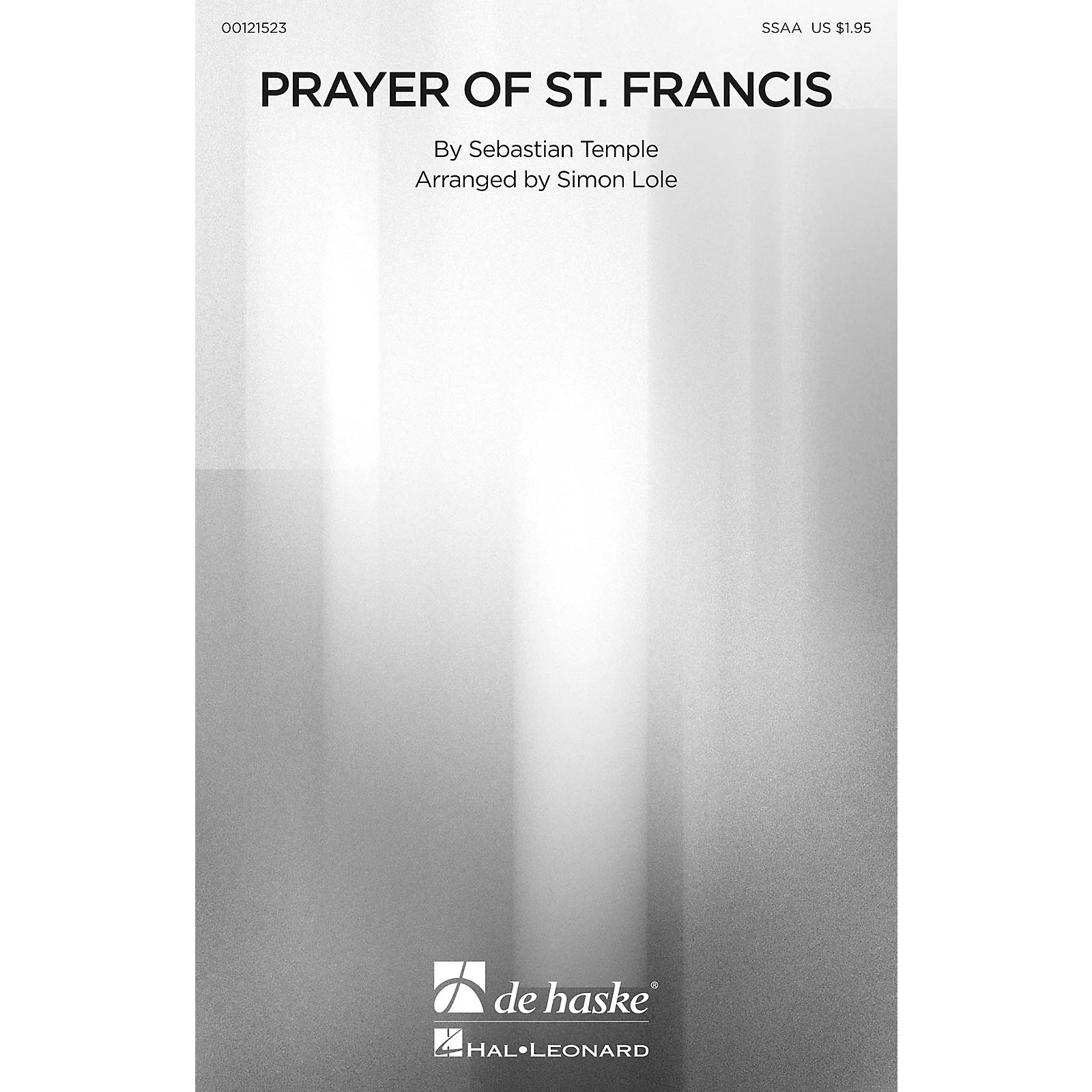 De Haske Music Prayer of St. Francis SSAA arranged by Simon Lole