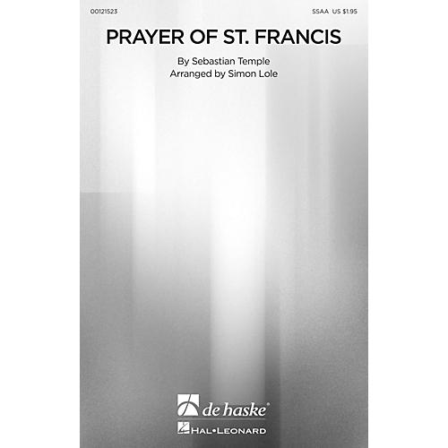 De Haske Music Prayer of St. Francis SSAA arranged by Simon Lole