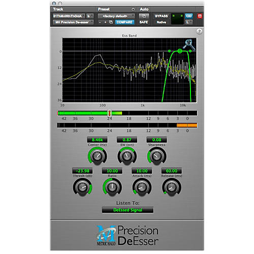METRIC HALO Precision DeEsser For Pro Tools AAX Software Download