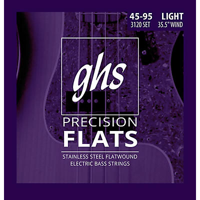 GHS Precision Flats Electric Bass Strings Light 45-95