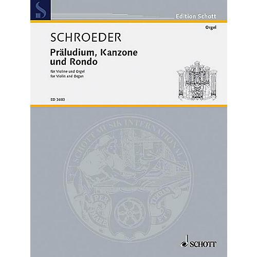 Schott Prelude Canon and Rondo Schott Series Composed by Hermann Schroeder