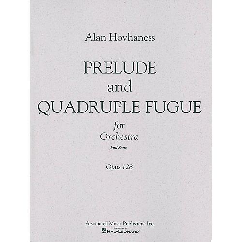 Associated Prelude & Quadruple Fugue, Op. 128 (Full Score) Study Score Series Composed by Alan Hovhaness