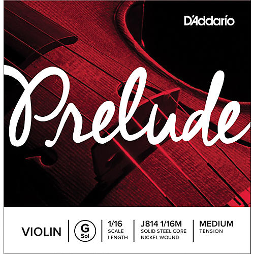D'Addario Prelude Violin G String 1/16 Size, Medium