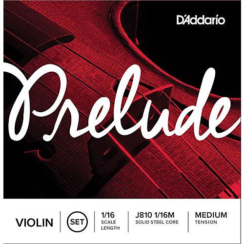 D'Addario Prelude Violin String Set 1/16 Size, Medium