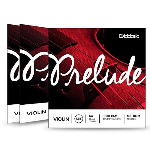D'Addario Prelude Violin String Set 3 Box Special 1/4 Size, Medium