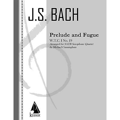 Lauren Keiser Music Publishing Prelude and Fugue LKM Music Series  by Johann Sebastian Bach Arranged by Michael Cunningham