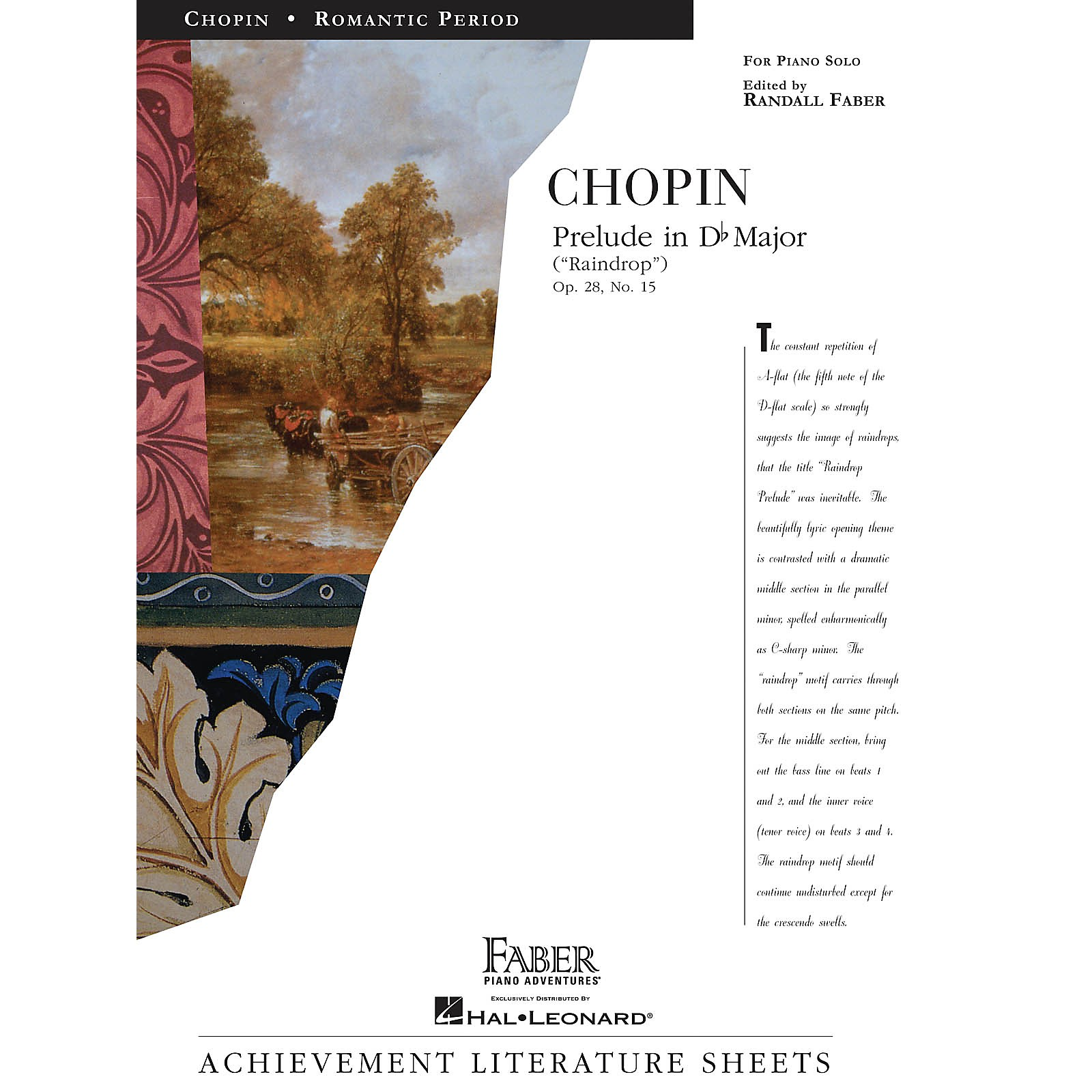 Faber Piano Adventures Prelude in D flat Major (Raindrop) Faber Piano Adventures Series Composed by Frederic Chopin