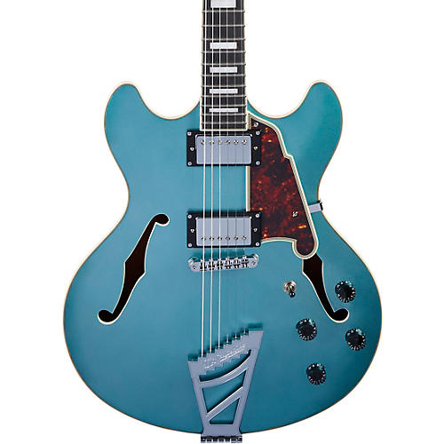 D'Angelico Premier DC Semi-Hollow Electric Guitar with Stairstep Tailpiece Ocean Turquoise
