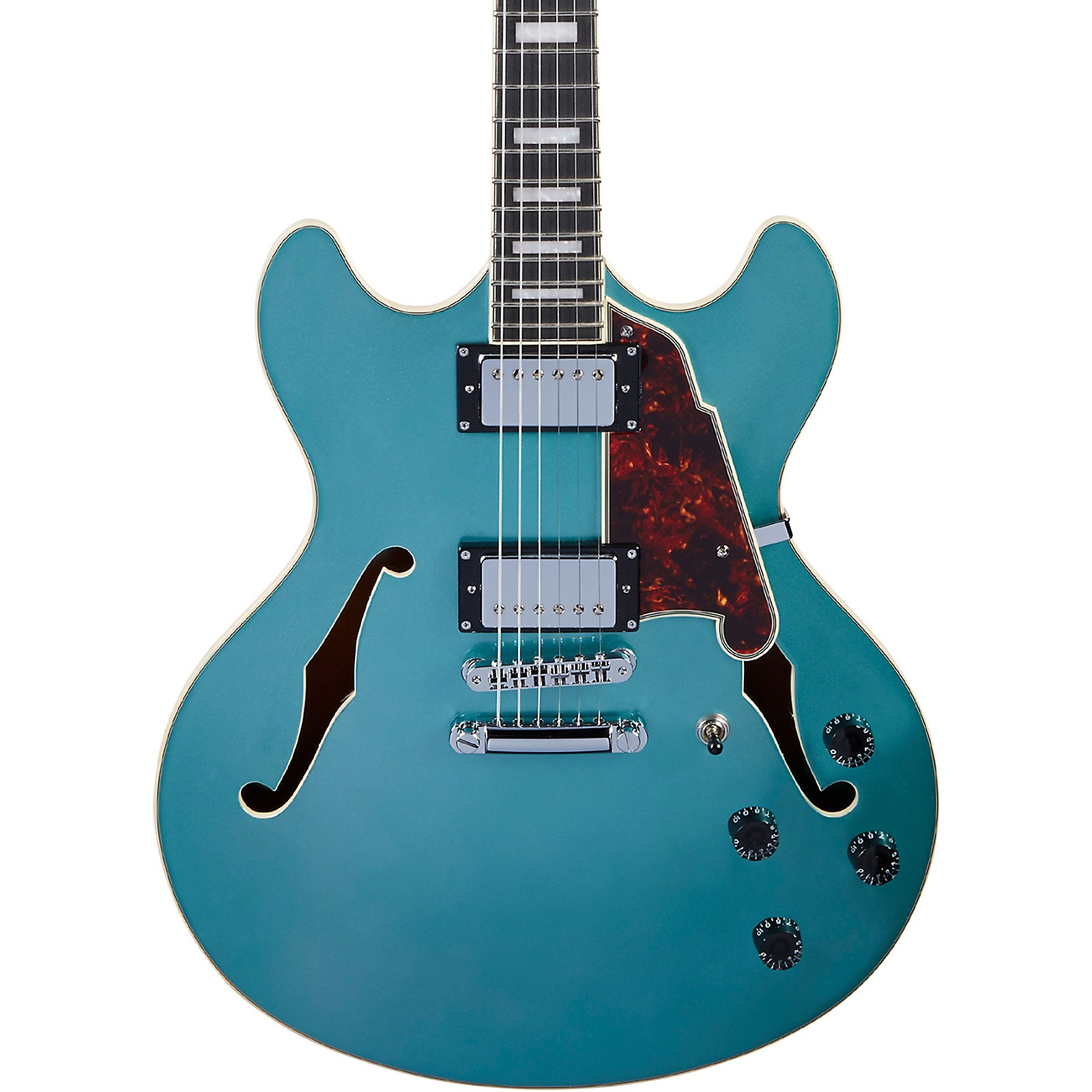 D'Angelico Premier DC Semi-Hollow Electric Guitar with Stopbar Tailpiece