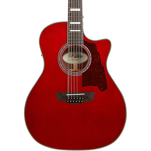 D'Angelico Premier Fulton Grand Auditorium 12-String Acoustic-Electric Guitar Transparent Wine Red