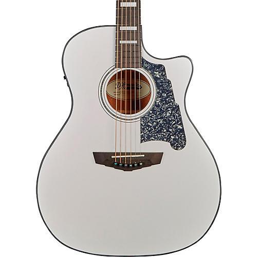 D'Angelico Premier Gramercy Grand Auditorium Acoustic-Electric Guitar Matte White