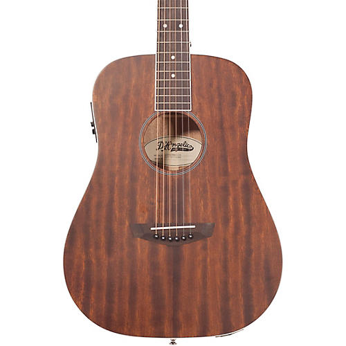 D'Angelico Premier Niagara Mahogany Mini Dreadnought Acoustic-Electric Guitar Condition 1 - Mint Natural