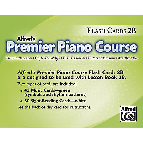 Alfred Premier Piano Course Flash Cards Level 2B