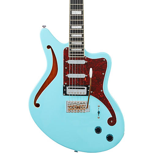 D'Angelico Premier Series Bedford SH Electric Guitar With Tremolo Sky Blue