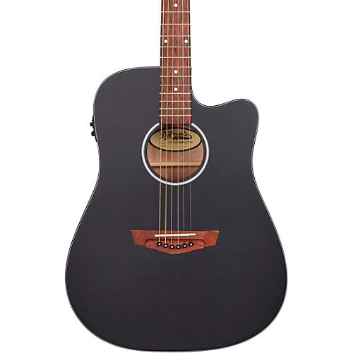 D'Angelico Premier Series Bowery CS Cutaway Orchestra Acoustic-Electric Guitar Matte Black