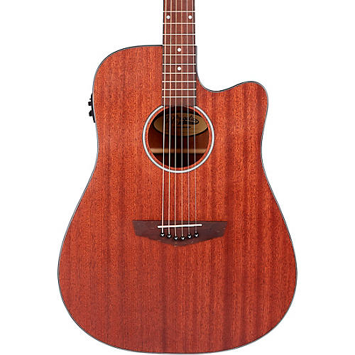 D'Angelico Premier Series Bowery LS Cutaway Dreadnought Acoustic-Electric Guitar Mahogany Satin
