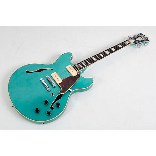 D'Angelico Premier Series DC Boardwalk Semi-Hollow Electric Guitar with Seymour Duncan P90s Condition 3 - Scratch and Dent Ocean Turquoise 194744351259