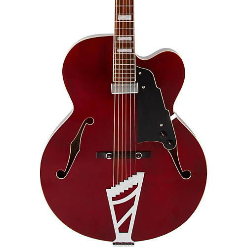 D'Angelico Premier Series EXL-1 Hollowbody Electric Guitar with Stairstep Tailpiece Transparent Wine