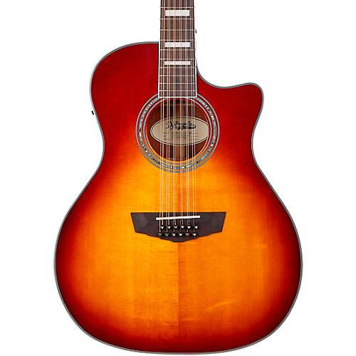 D'Angelico Premier Series Fulton Cutaway Grand Auditorium 12-string Acoustic-Electric Guitar Iced Tea Burst