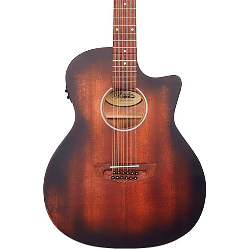 D'Angelico Premier Series Fulton LS Cutaway Grand Auditorium Acoustic-Electric Guitar Aged Mahogany