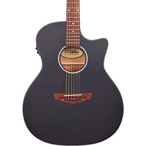 D'Angelico Premier Series Gramercy CS Cutaway Orchestra Acoustic-Electric Guitar Matte Black