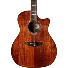 D'Angelico Premier Series Gramercy Koa Single Cutaway Grand Auditorium Acoustic Guitar with Onboard Preamp and Tuner
