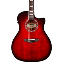 Premier Series Gramercy Single Cutaway Grand Auditorium Acoustic-Electric Guitar Trans Black Cherry Burst