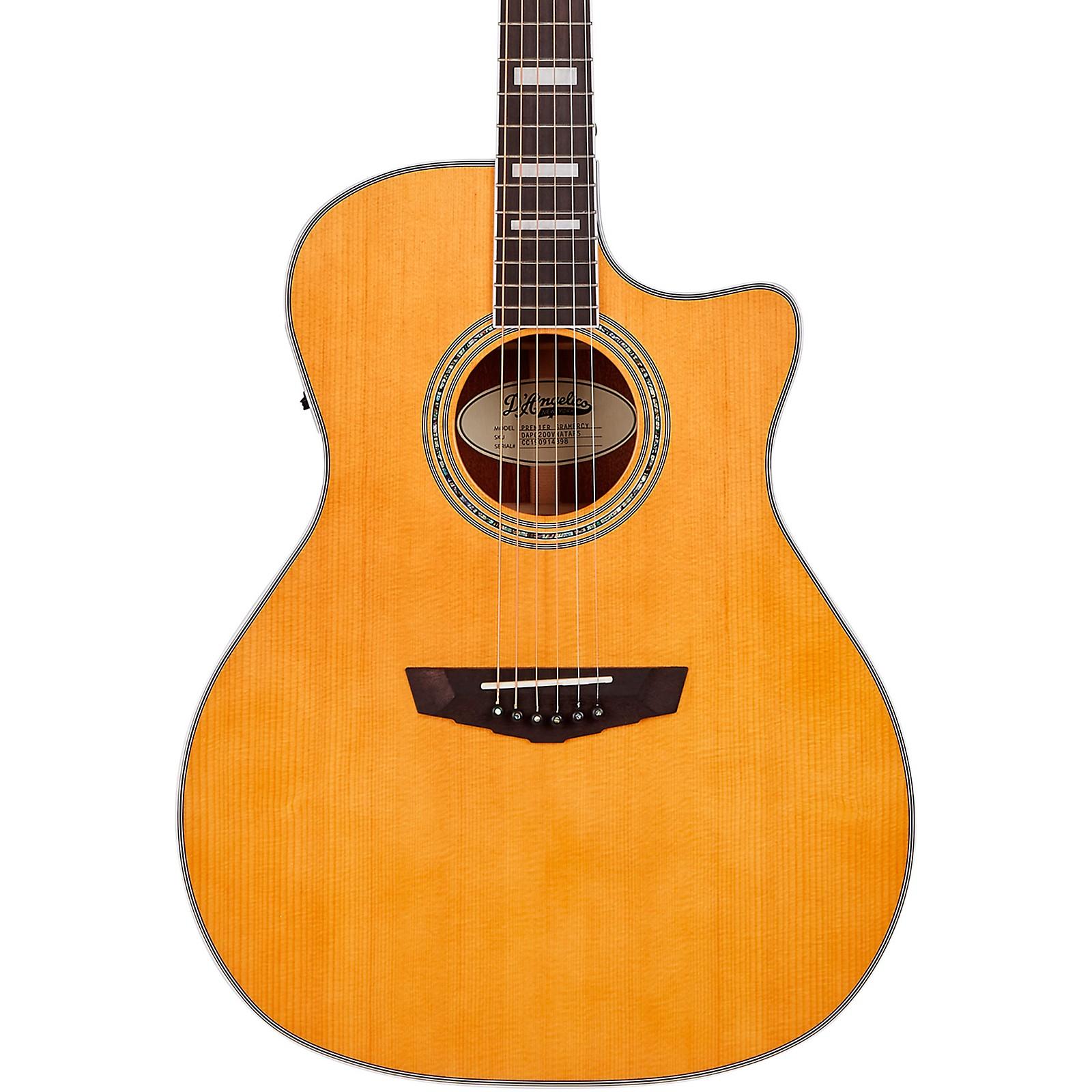D'Angelico Premier Series Gramercy Single Cutaway Grand Auditorium Acoustic-Electric Guitar