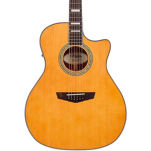 D'Angelico Premier Series Gramercy Single Cutaway Grand Auditorium Acoustic-Electric Guitar Vintage Natural