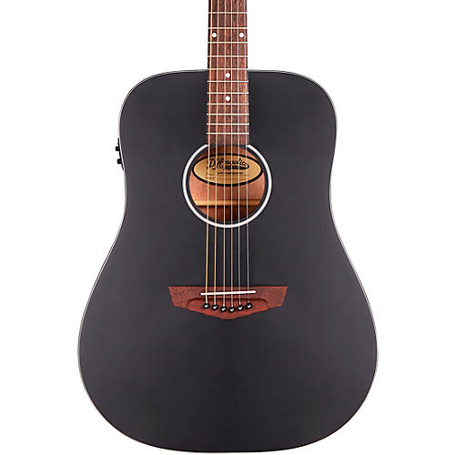 D'Angelico Premier Series Lexington CS Non-Cutaway Dreadnought Acoustic/Electric Guitar Matte Black