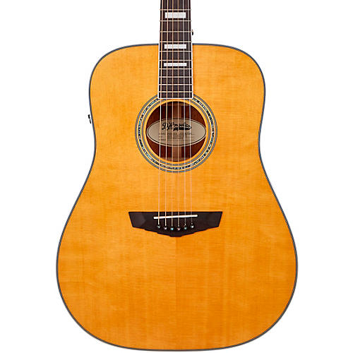 D'Angelico Premier Series Lexington Dreadnought Acoustic-Electric Guitar Vintage Natural
