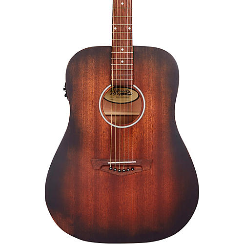 D'Angelico Premier Series Lexington LS Dreadnought Acoustic-Electric Guitar Aged Mahogany