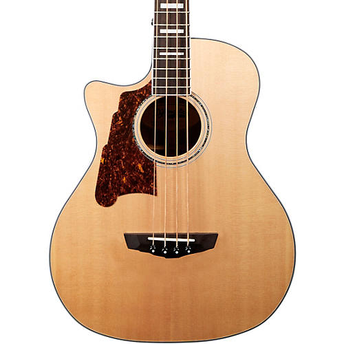 D'Angelico Premier Series Mott Single Cutaway Acoustic Bass with Onboard Preamp and Tuner Lefty
