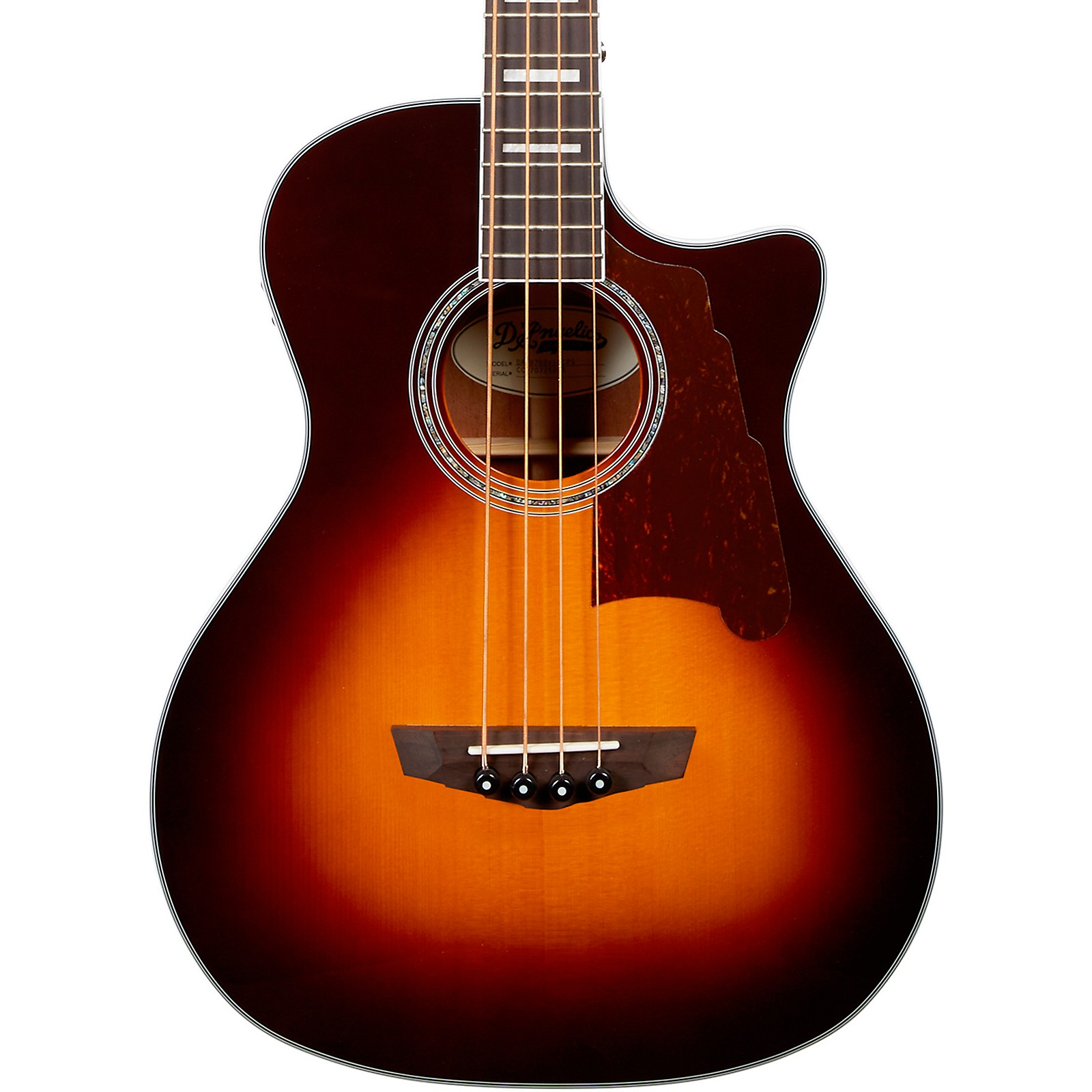 D'Angelico Premier Series Mott Single Cutaway Acoustic Bass with Onboard Preamp and Tuner