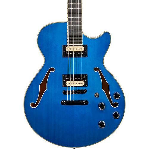 D'Angelico Premier Series SS Fabrizio Sotti Semi-Hollow Electric Guitar Fabrizio Blue