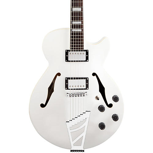 D'Angelico Premier Series SS Semi-Hollowbody Electric Guitar with Stairstep Tailpiece Condition 2 - Blemished White 190839704900